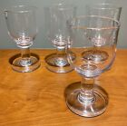 BRILLIANT Four SIMON PEARCE Essex Wine Goblets Glass 6 SIGNED GLASS BLOWN