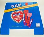 VALENTINE'S DAY PEZ Floor Display Advertising Sign Header Red Pink Hearts  1996