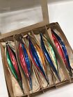 Vintage 5 Multi Color Icicle Teardrop Poland Glass Christmas Ornaments
