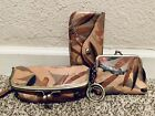 Patricia Nash Palm Leaves Trezza Wristlet Borse Coin Purse and Eye Glass Case