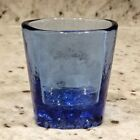 BRAND NEW  SIGNED  Cobalt On The Rocks Glass  Fire and Light Recycled Glass