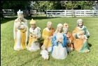 7 Pc Vintage Blow Mold Outdoor Nativity Set By Empire