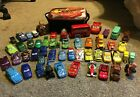 Disney Pixar Cars Diecast Lot 52 Toys44 metal w Lunchbox in Used Condition