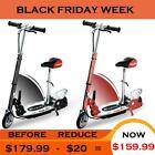 Maxtra Teens Electric Powered Folding Scooter Kids Adjustable Commuter with Seat