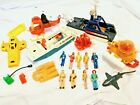 Adventure People LOT Vintage 1980 Fisher Price Sea Shark Patrol Rescue Boat