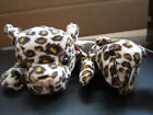 2 TY BEANIE BABIES FRECKLES THE LEOPARD TEENIE ALSO 1996 BIG CATS PLUSH ANIMALS