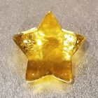 BRAND NEW  SIGNED  Citrus Star Paperweight  Fire  Light Recycled Glass