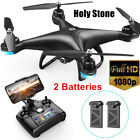 Holy Stone HS110D FPV RC Drone With 1080P HD Camera WiFi Quadcopter +2 Batteries