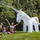 Inflatable Unicorn Water Spray Pool Toys Swimming Float Outdoor Beach Party Kids