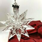 Waterford Crystal Official 2007 Annual Snowstar Ornament With Enhancer Box Pouch