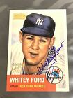Whitey Ford Autograph 2001 Team Topps Legends 1953 Reprint Auto *CREASED* *READ*