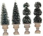 Lemax ~ Village Figurine / Accessory ~ CONE-SHAPED & SCULPTED TOPIARIES, SET OF