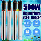 2 4pcs Heater 500W Aquarium Fish Tank Submersible Adjustable Heater 500 Watts