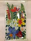 Peggy Karr Fused Glass Tropical Hawaii Flowers Tray 7 x 13