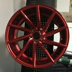 19 SWIRL STYLE CANDY RED STAGGERED WHEELS RIMS FITS NISSAN 350Z 370Z 300ZX