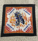 Vintage Highway To Hell Bandana RARE Made In The USA Skull Biker Fire