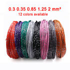 Thin Wall Automotive Cable 0.3-2mm Car Wiring Auto Modification Electrical Wire