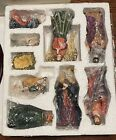 Carlton Cards Set of 11pc Large Nativity Scene Figurines Wood Display Christmas