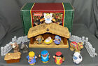 2002 Fisher Price Little People Deluxe Christmas Story Nativity Set COMPLETE