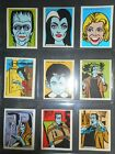 1964 MUNSTERS COMPLETE (16) STICKER SET LEAF