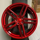 20 HYBRID STYLE GLOSS RED STAGGERED WHEELS RIMS FITS NISSAN 350Z 370Z 300ZX