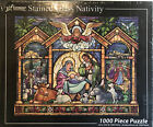 Puzzle Stained Glas Nativity 1000 Piece Vermont Christmas Co