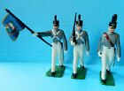 3 Vintage 1960s Marx 60mm painted US Army Academy West Point cadet figures