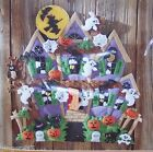 Bucilla HAUNTED HOUSE Felt Halloween Wall Hanging Kit Ghosts Cat Witch OOP RARE