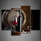 Wine and Fruit with Glass and Barrel Wall Art Painting for Kitchen Pictures On