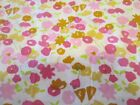 Vintage Floral Cotton Blend sateen Fabric 46 by 208 Almost 6 yards
