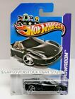 2013 HOT WHEELS BLACK FERRARI 458 SPIDER HW 151 250 RARE BLACK INTERIOR VHTF