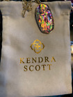 Kendra Scott Faceted Reid Long Gold Plated Lilac Abalone Shell Pendant Necklace