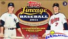 2011 Topps Lineage Baseball MASSIVE Factory Sealed HOBBY Box-3 AUTO RELIC