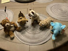 Beanie Babies Lot Of 5 Whittle, Tuffy, Siam, Fins, And Jimbo Used