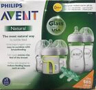 Philips Avent Natural Glass Bottle Baby Gift Set SCD201 01 Free Shipping