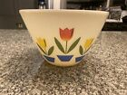 Vintage Anchor Hocking Fire King Tulip Mixing Bowl 8 1 2 Wide