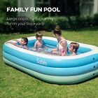 Sable Inflatable Pool Blow up Kiddie Pool for Family Garden Outdoor Backyard