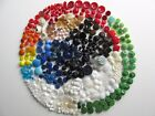 Large Lot Vintage Glass Buttons Many Colors Patterns Sets Singles Collect Craft