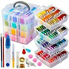 262 Pack Embroidery Thread Floss Set Including 200 Colors 8 M Pcs Cross Stitch