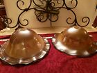 TODD PHILLIPS SIGNED TWO HAND BLOWN ART GLASS HANGING LIGHT FIXTURE BY QUOIZEL