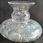 ANTIQUE CUT GLASS CRYSTAL VASE COOL SHAPE SOME CLOUDINESS ABP ANTIQUE