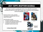 2021 Topps Inception Hobby Box Factory Sealed Pre-Sale Releases 03 17 2021