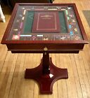 Franklin Mint Monopoly Collectors Edition Pedestal Table Trays Glass Top 1991