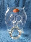 Murano Clear Glass Owl
