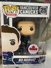 Funko POP! NHL 25 Bo Horvat Vancouver Canucks Canada Exclusive Vinyl Figure
