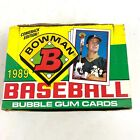 1989 Bowman Baseball Wax Box Cards - Open Box 36 Packs Sealed - Griffey Rookie