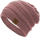 Durio Womens Knit Beanie Winter Thick Solid Fleece Lined Beanie Hats for Women M