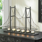 Gate Bridge Wire Candle Holder Metal Candelabra Candles Home Decor Accent Art