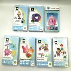 Lot of 7 Cricut Cartridges Birthday Occasion Keypads Cartridge Booklets In Boxes