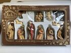 Vintage 12 pc Hand Painted Nativity Set Germany Friedel Krippenfiguren MB